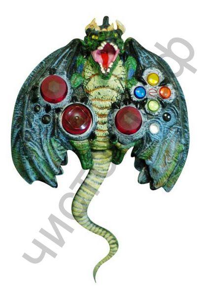"""Геймпад DVTech """"JS66 Horror Dragon"""" в форме дракона,прорез.встав.,вибро,USB Распродажа !!! Повреждена упаковка"""