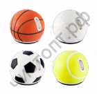 "Мышь сувенир. беспровод. PERFEO PF-323-WOP-F, ""SportBall Mouse"", ""Football"", USB. 1000 dpi. Кноп: 2 + кол прокру. Силик чехол (сним для чист)"
