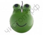 """Мышь сувенир. Perfeo """"Ква-Ква"""", оптич., 3 кн, USB, зелёная (PF-103-OP-GN)"""
