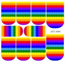 Слайдер-дизайн для ногтей № 0090