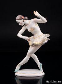 Балерина в пачке, Hutschenreuther, Германия, 1950-60 гг., артикул 01821