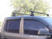 Багажник на крышу Volkswagen Amarok, Атлант, аэродинамические дуги, опора Е