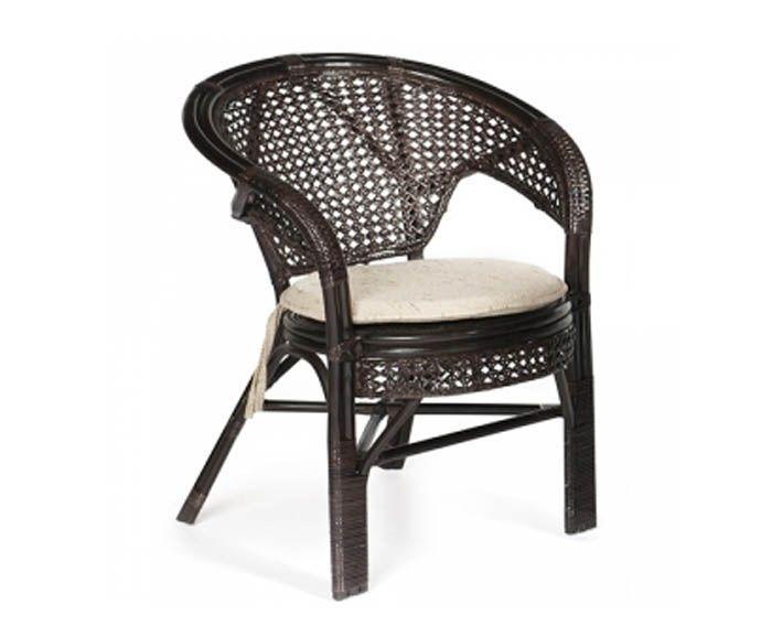 Кресло из натурального ротанга Пеланги Pelangi с подушкой