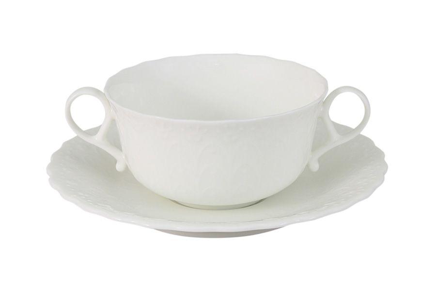"""Суповая чашка на блюдце 0,2л """"Шёлк"""""""