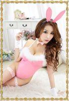 Сексуальный розовый костюм Очаровательная Зайка
