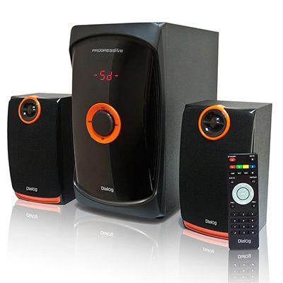 Мультимедийные колонки 2.1 Dialog Progressive AP-200 BLACK - акустические колонки 2.1, 30W+2*15W RMS, USB+SD reader