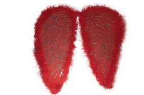 Крылья ангела с пухом красные