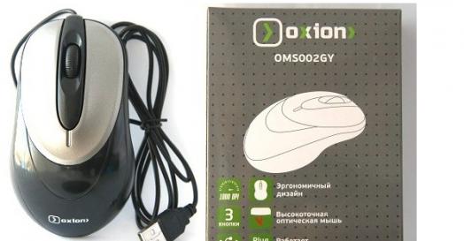 Мышь проводная OXION OMS002GY