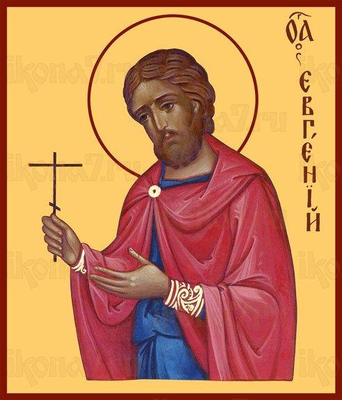 Икона Евгений Севастийский (рукописная)