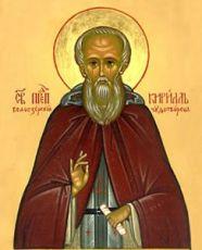 Кирилл Белозерский (рукописная икона)