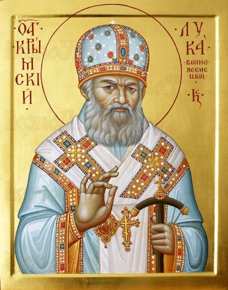 Лука Крымский (рукописная икона)