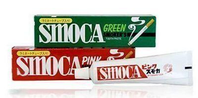 """012010 """"Smoca"""" Pink - Зубная паста для курильщиков со вкусом мяты и зимней зелени, 120 г."""