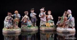 Времена года, 4 статуэтки, Carl Thieme, Potschappel, Германия. вт пол. 20 в