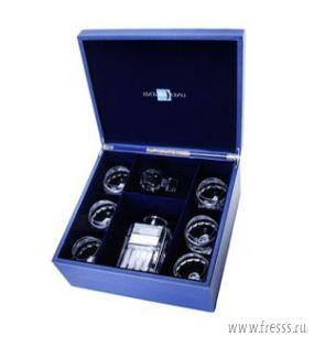 Подарочный графин и стопки для бренди из хрусталя, Linea Argenti Италия