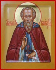 Икона Макарий Калязинский (рукописная)