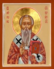 Мирон Критский (рукописная икона)