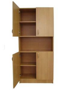 Шкаф офисный четырехдверный с нишей для документов