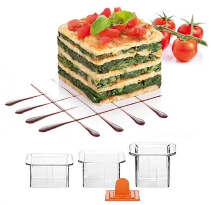 Tescoma Формочки для придания блюдам формы КВАДРАТЫ 3 шт PRESTO 422212