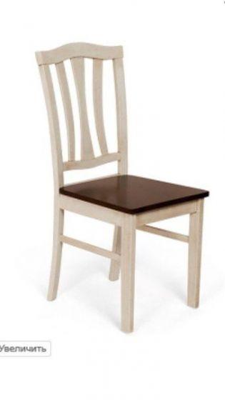 Стул с твёрдым сиденьем СТ 8162 ант.бел/тёмн.дуб