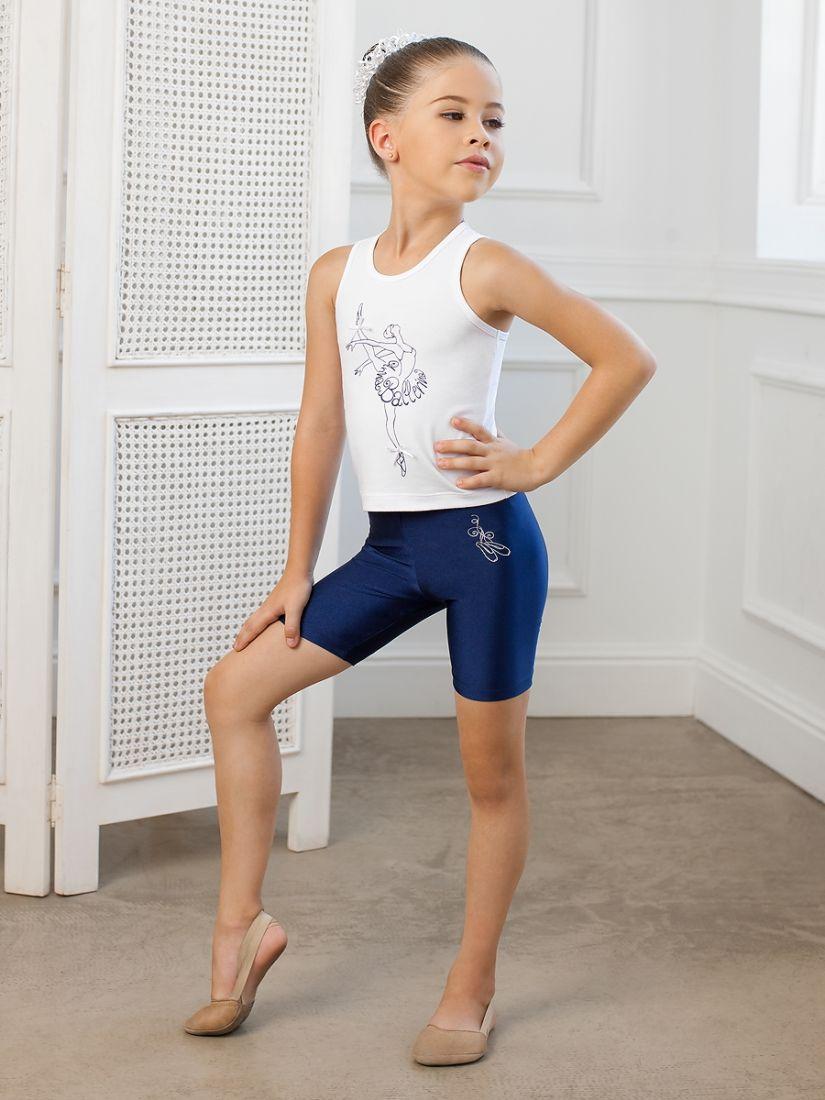 Шорты для девочки 4-5 лет темно-синего цвета