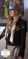 Меховой воротник из соболя Wedding fur дизайнерский купить Москва фото