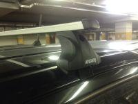 Багажник на крышу Toyota Hilux, Атлант, прямоугольные дуги