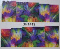 Водная наклейка для дизайна ногтей XF 1412