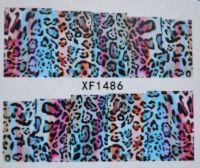 Водная наклейка для дизайна ногтей XF 1486