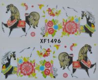 Водная наклейка для дизайна ногтей XF 1496