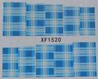 Водная наклейка для дизайна ногтей XF 1520