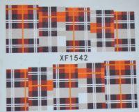 Водная наклейка для дизайна ногтей XF 1542