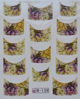 Водная наклейка для дизайна ногтей B 139