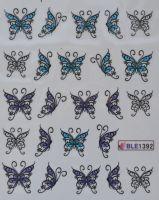 Водная наклейка для дизайна ногтей BLE 1392