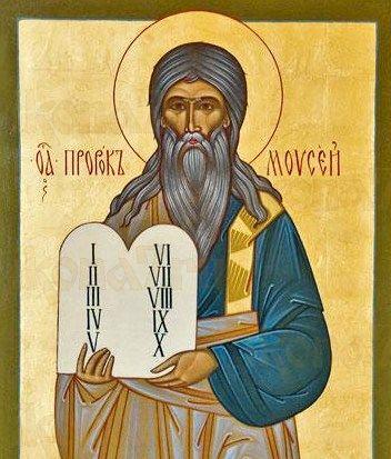 Моисей, пророк (рукописная икона)