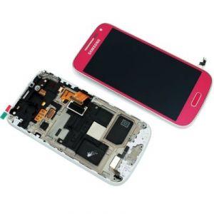 LCD (Дисплей) Samsung i9190 Galaxy S4 mini/i9192 Galaxy S4 mini Duos/i9195 Galaxy S4 mini (в сборе с тачскрином) (в раме) (pink) Оригинал