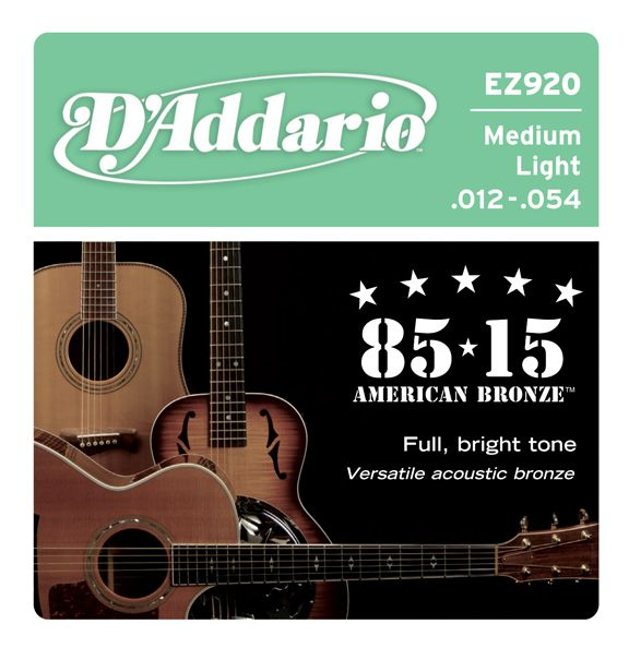D`ADDARIO EZ920 (012-054) Струны для акустической гитары