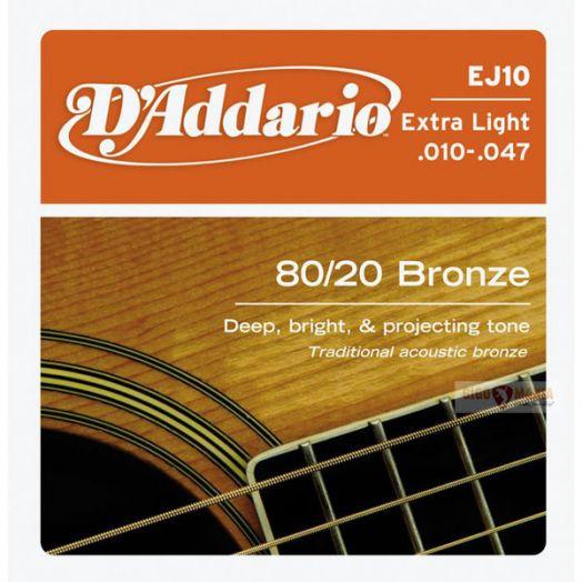 D`ADDARIO EJ-10 (010-047) Струны для акустической гитары