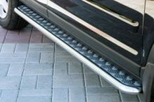 Боковые подножки Souz-96, нерж.сталь, труба ф 42мм., а/м 2002-2004г.в.