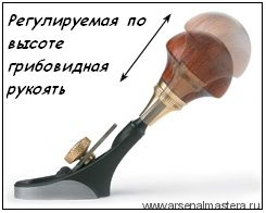 Рубанок Veritas Detail Palm Plane 38мм / 10мм / плоский 05P90.01 М00002447