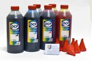 Чернила OCP для принтера и МФУ Canon MG6140, MP980 (BKP44, BK123, BK124, C154, M144, Y144), картриджи PGI-425, PGI-520, CLI-426, CLI-521, комплект  1000 гр. x 6