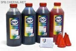 Чернила OCP для принтера и МФУ Canon iP2700, MP230, MP250, MP280 (BKP44, C712, M712, Y712), картриджи PG-510, CL-511 комплект 1000 гр. x 4