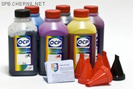 Чернила OCP для принтера и МФУ Canon MG6340, MG7140, MG7540, IP8740 (BK35, BK130, BK135, C712, M135, Y135) Safe Set, комплект 500 гр. x 6