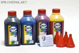 Чернила OCP для принтера и МФУ Canon iP2700, MP230, MP250, MP280 (BKP44, C712, M712, Y712), картриджи PG-510, CL-511 комплект 500 гр. x 4