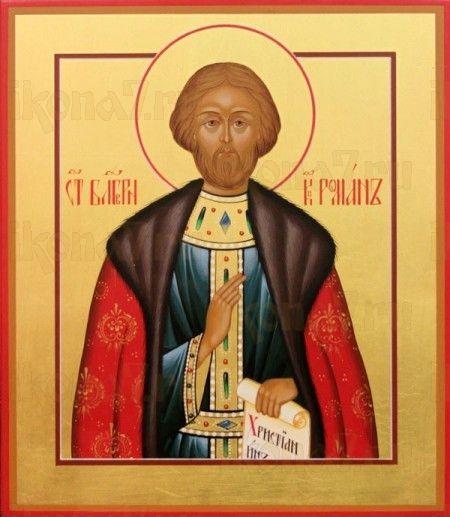 Роман Рязанский (рукописная икона)