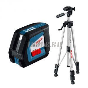 BOSCH GLL 2-50 + BS 150 + вкладка под L-Boxx - лазерный нивелир