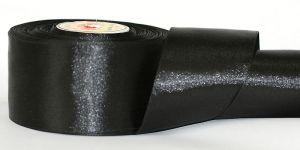 Атласная лента, ширина 25 мм, 32,5 метра (+-0,4м), Арт. АЛ_черный-25