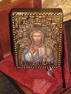 """Икона Иисуса Христа """"Господь Вседержитель"""" 11 х 15 см, роспись по дереву"""