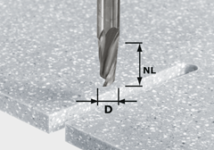 Спиральная пазовая фреза HW, хвостовик 12 мм HW D12/27 ss S12