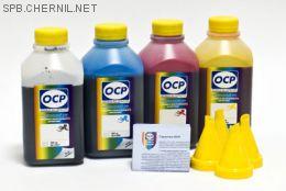 Чернила OCP для принтера HP Deskjet Ink Advantage 3525, 4515, 4615, 4625, 5525, 6525 (BKP249, C343, M343, Y343), картридж HP 655, комплект 500 гр. x 4