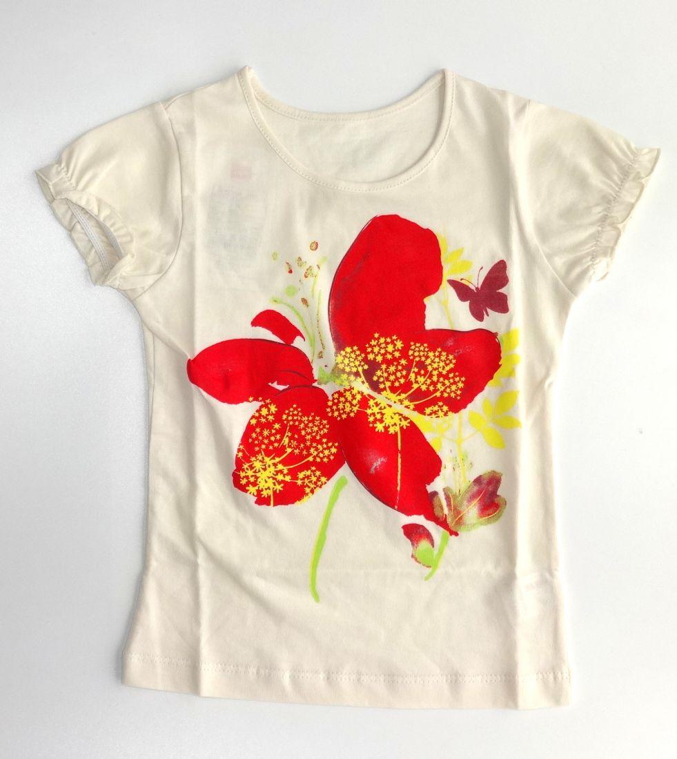 Блуза для девочки Красный мак